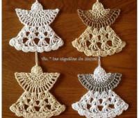 Angeles Navideños Tejidos en crochet con Moldes