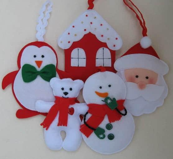 moldes para hacer adornos de navidad 2016
