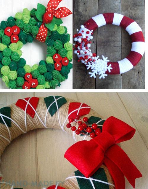 Adornos para puerta de navidad (3)