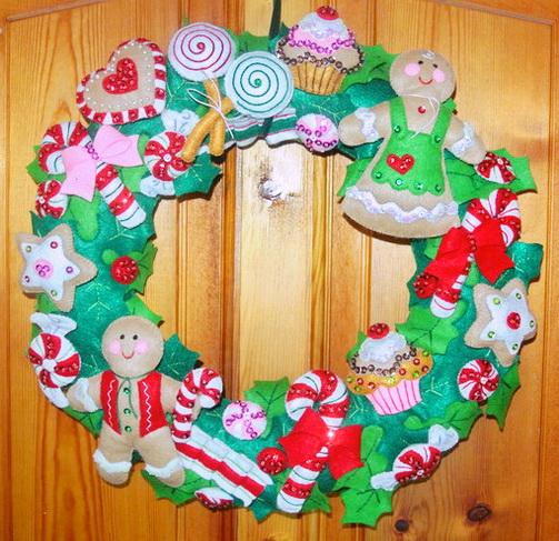 Adornos para puerta de navidad011