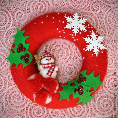 Adornos para puerta de navidad012