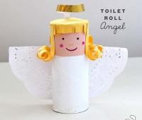 Como hacer un Angel de Navidad con Rollos de Carton