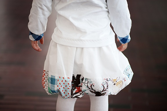 Cómo hacer una falda de burbuja sin frunce o pliegue (1)