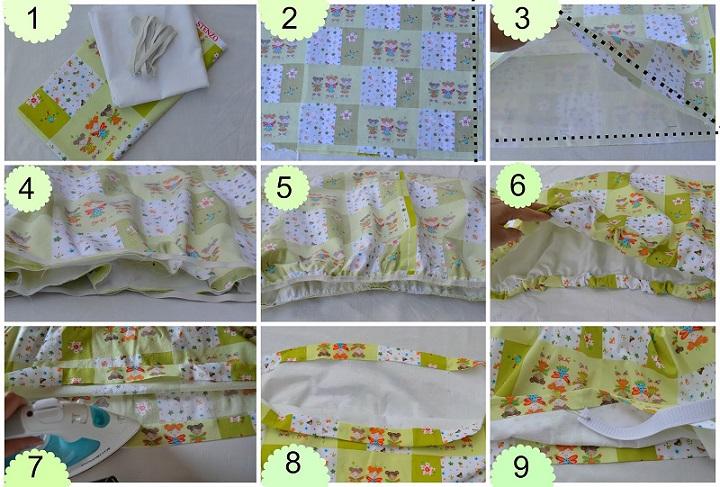Cómo hacer una falda de burbuja sin frunce o pliegue (2)
