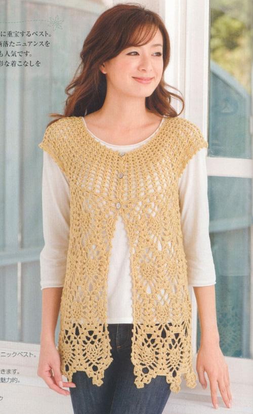 Chalecos tejidos a crochet para mujer07