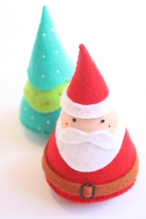 Como hacer conos navideños de fieltro03