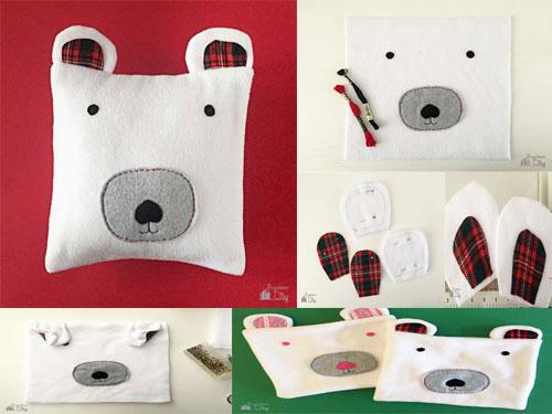 Como hacer fundas de almohadas con forma de oso paso a paso