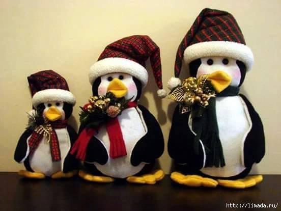 Como hacer pinguinos navideños de fieltro06