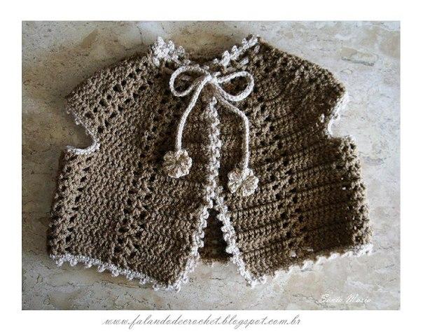Como hacer un chaleco tejido a crochet para bebe01