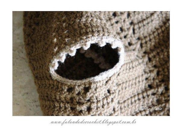 Como hacer un chaleco tejido a crochet para bebe06
