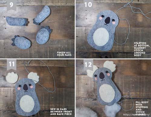 Como hacer un koala de fieltro paso a paso01