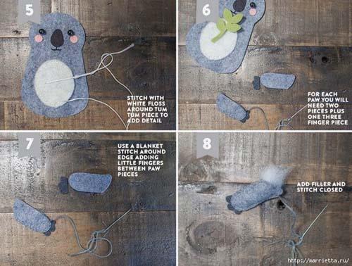 Como hacer un koala de fieltro paso a paso05