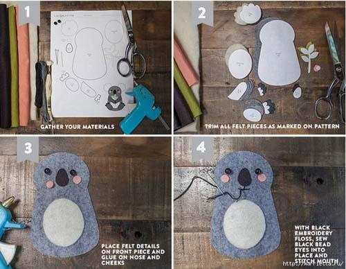 Como hacer un koala de fieltro paso a paso06