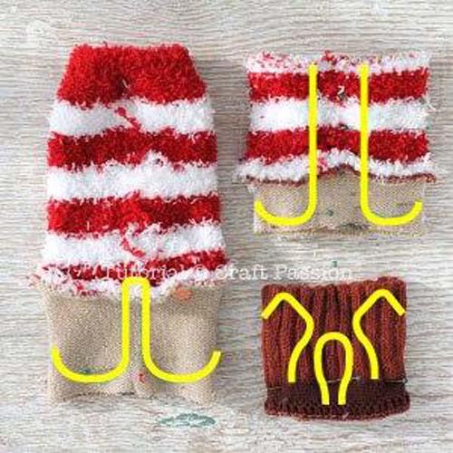 Como hacer un reno con calcetines paso a paso04