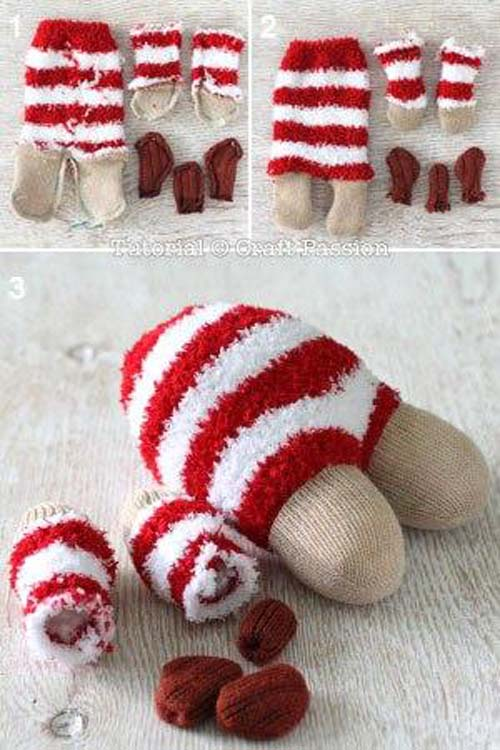 Como hacer un reno con calcetines paso a paso06