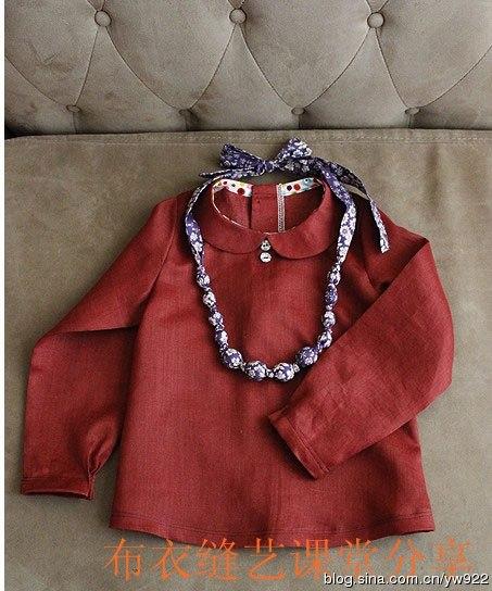 Como hacer una blusa con cuello peter pan para niñas05