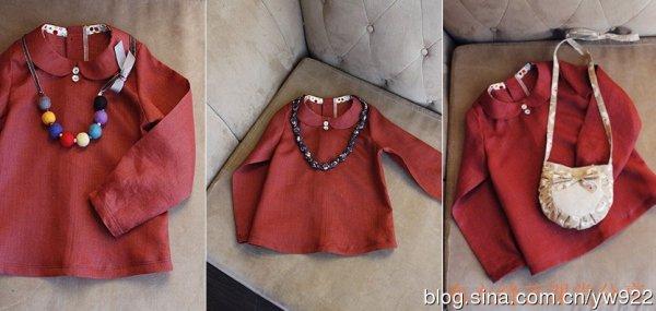 Como hacer una blusa con cuello peter pan para niñas07