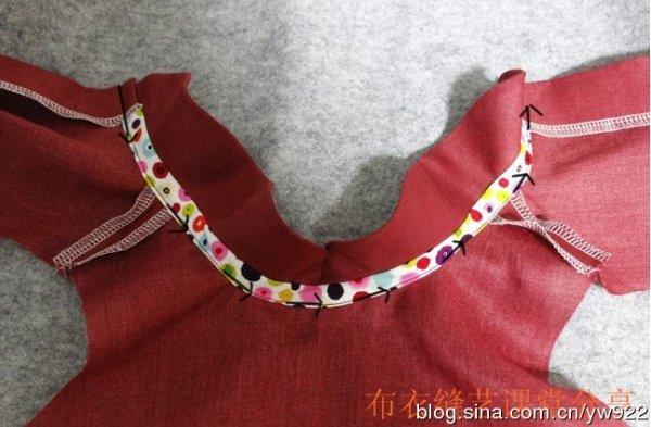 Como hacer una blusa con cuello peter pan para niñas08
