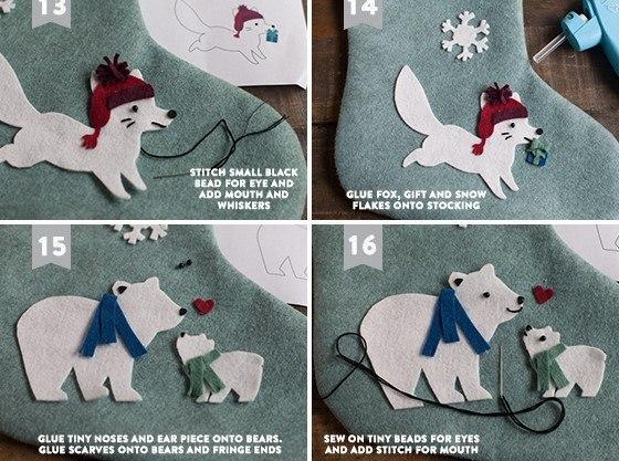Como hacer una bota navideña paso a paso02