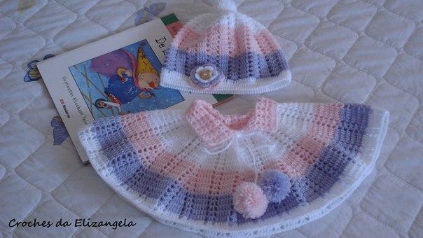Como tejer un poncho para bebe con patrones03