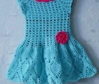 ideas para tejer un vestido a crochet para niñas