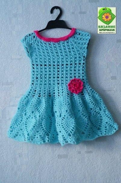 Como tejer un vestido a crochet para niñas02