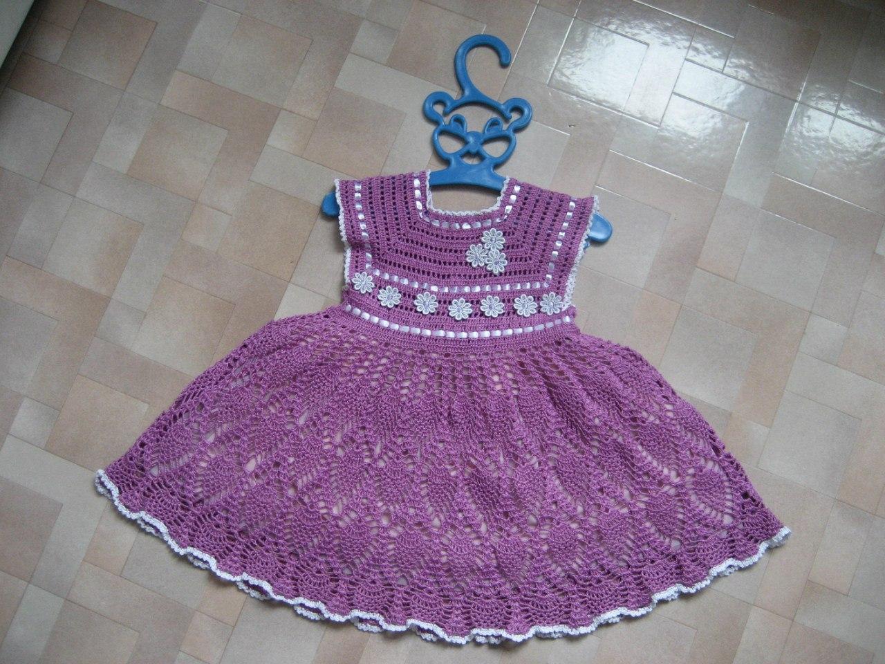 Como tejer un vestido a crochet para niñas03