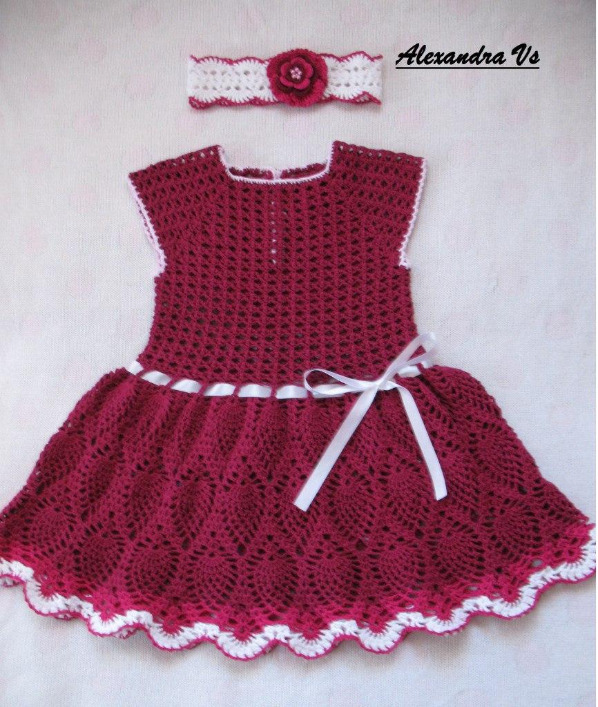 Como tejer un vestido a crochet para niñas04