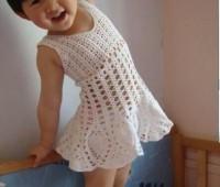 Como tejer un vestido casual para niñas a crochet