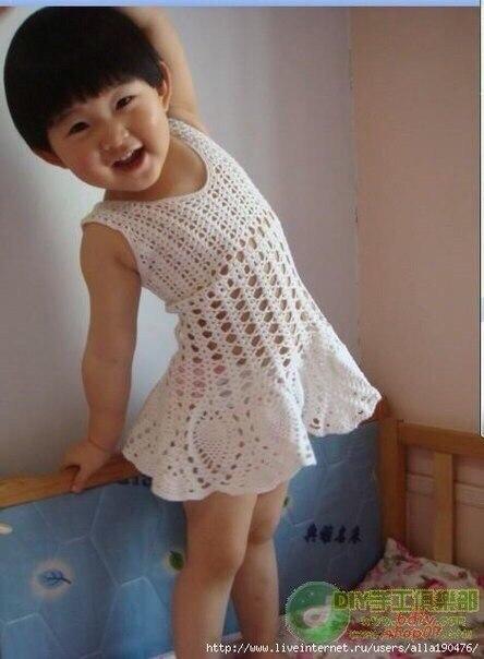 Como tejer un vestido casual para niñas a crochet05