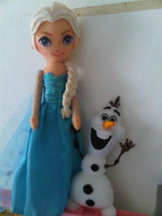 Elsa y Anna de Frozen en Fieltro14