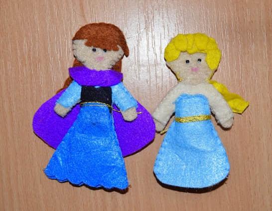 Elsa y Anna de Frozen en Fieltro15