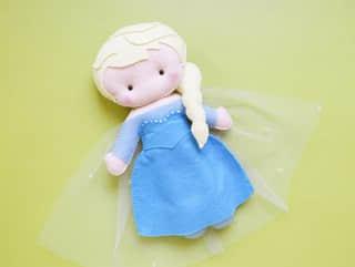 Elsa y Anna de Frozen en Fieltro16