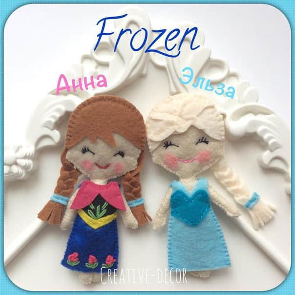 Elsa y Anna de Frozen en Fieltro18
