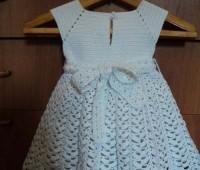 Esquema para hacer un vestido para niñas a crochet
