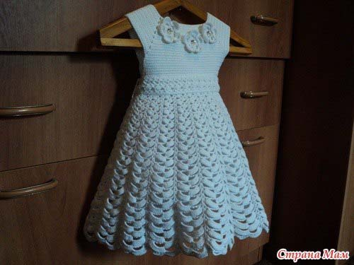 Esquema para hacer un vestido para niñas a crochet05