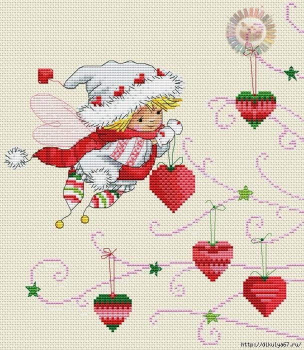 Graficos de figuras navideñas para bordar en punto de cruz03