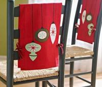 Ideas para hacer cubresillas navideños en fieltro y tela