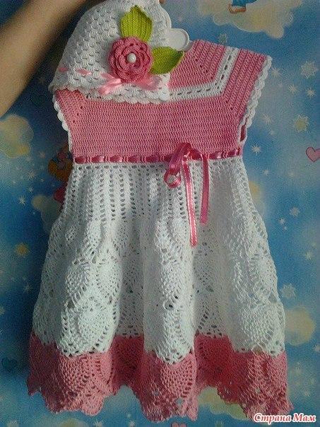 Ideas para tejer vestidos a crochet para niñas01