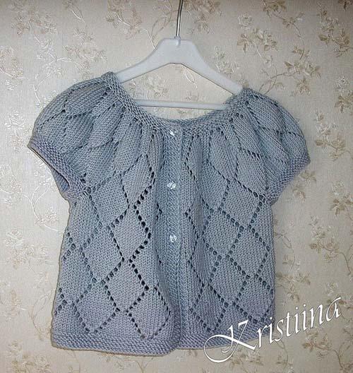 Modelos de chalecos tejidos a dos agujas para niñas de 1 año01