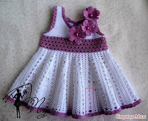 Modelos para hacer bonito vestido a crochet para niñas01
