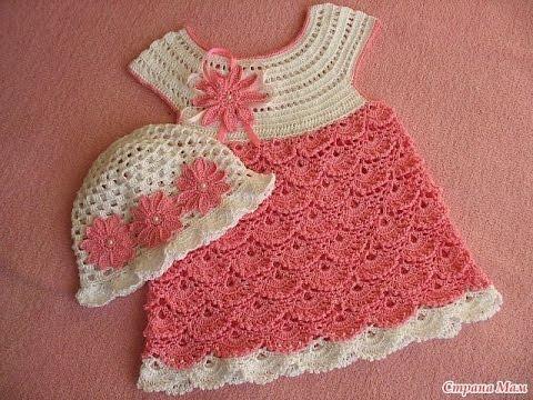Modelos para hacer bonito vestido a crochet para niñas06