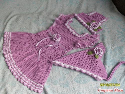 Modelos para hacer bonito vestido a crochet para niñas07