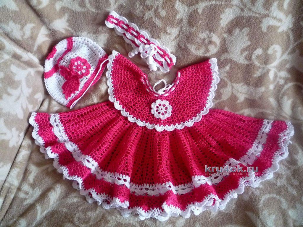 Modelos para hacer bonito vestido a crochet para niñas11