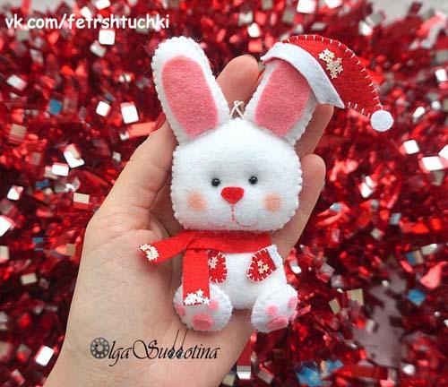 Moldes de conejos navideños en fieltro05