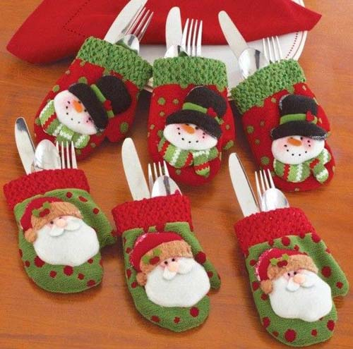 Moldes para hacer portacubiertos navideños en fieltro06
