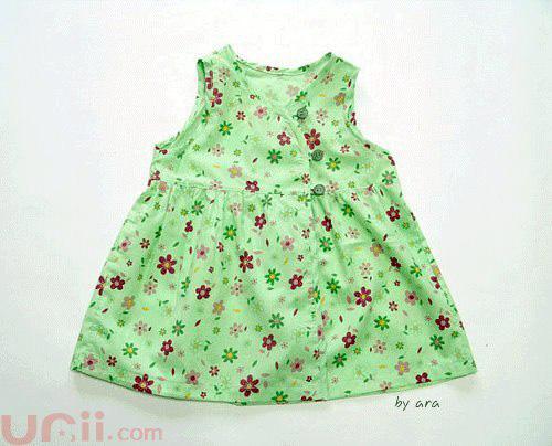 Moldes para hacer vestidos olgados para bebes01