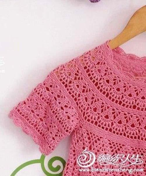 Moldes para tejer una tunica a crochet para niñas05