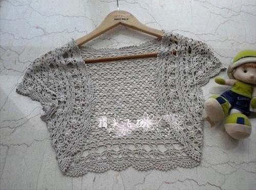 Moldes para tejer una tunica a crochet para niñas06