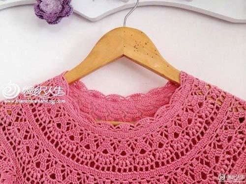 Moldes para tejer una tunica a crochet para niñas08
